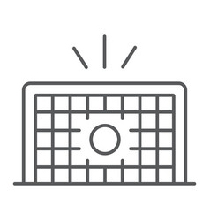 Soccer gate thin line icon football and sport vector