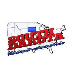 south dakota state with us south dakota state on vector image