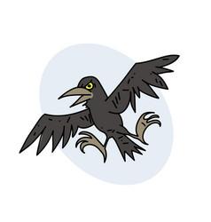 spooky crow vector image