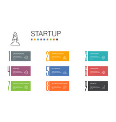 Startup infographic 10 option line concept vector