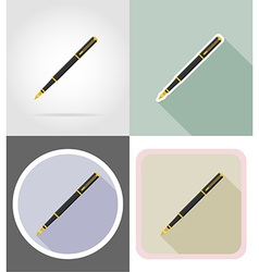 Stationery flat icons 12 vector
