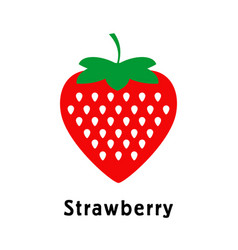 strawberries on a white background logo pattern vector image