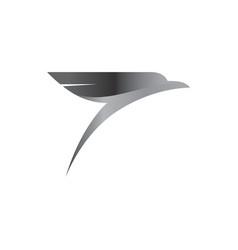 stylized bird icon design element vector image