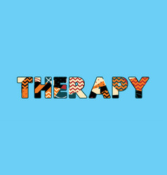 therapy concept word art vector image