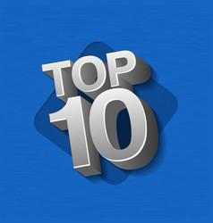 Top ten silver words vector