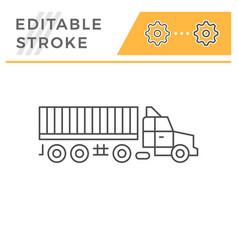 truck trailer line icon vector image