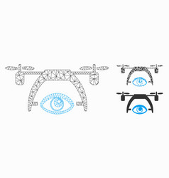 video spy drone mesh network model and vector image