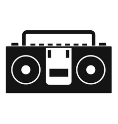 Vintage tape recorder icon simple style vector