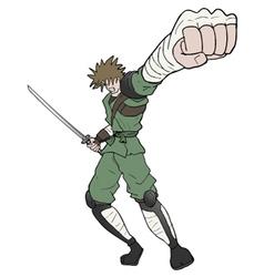 warrior punch vector image