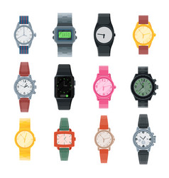 watch business wristwatch or fashion wrist vector image