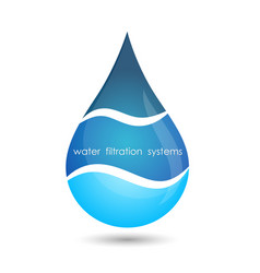 water filtration system symbol vector image