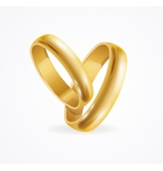 Wedding Gold Ring vector image