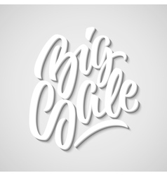 White Big Sale Calligraphy Lettering Badge vector