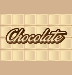 white chocolate type vector image