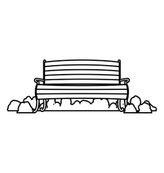wooden chair with shrubs vector image