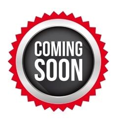 Coming Soon badge vector image