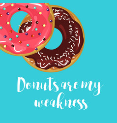 donuts with glaze vector image
