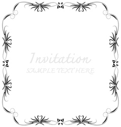 invitation with beautiful designs vector image