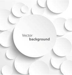 Paper circles with drop shadows vector image