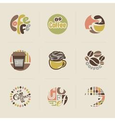 Retro coffee emblems vector image vector image