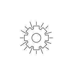shining gear icon vector image