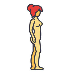 woman body profile female silhouette concept vector image vector image