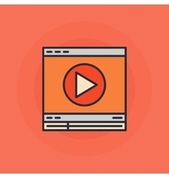 Flat online video icon vector image