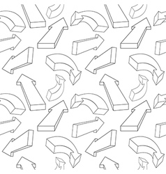 Seamless pattern from arrows vector image vector image