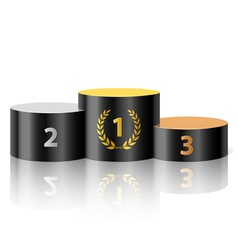 Winners podium vector image