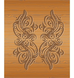 Wood texture with abstraction vector image