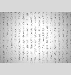 binary code white background big data and vector image