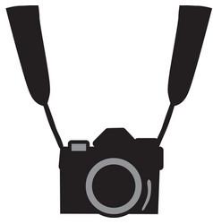black camera vector image