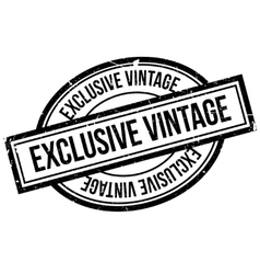 Exclusive Vintage rubber stamp vector image