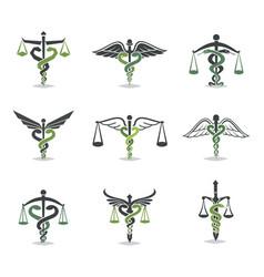health law icon vector image