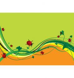 ladybird field vector image vector image