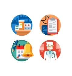 Medical treatment and examination vector image