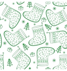 Christmas Stockings Seamless vector image