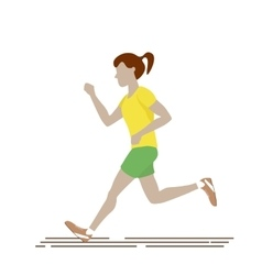 Woman Running Isolated vector image vector image