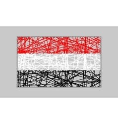 Yemen flag design concept vector image vector image