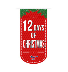12 days of christmas banner design vector