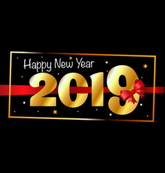 2019 happy new year background greeting card vector image