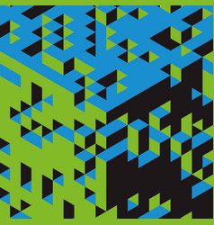 3d blocks background abstract modern technology vector image
