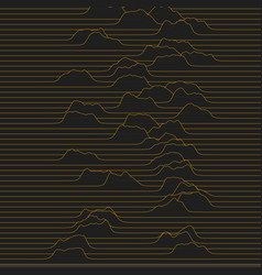 a little waves moving through line space vector image