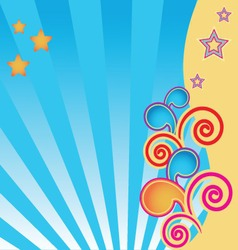 abstract background with stars and swirls vector image