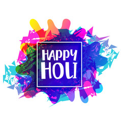 Abstract colorful banner for happy holi festival vector