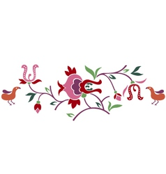 abstract floral branch with bird vector image vector image