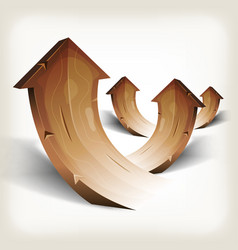 abstract wood rising arrows vector image