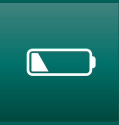 Battery level indicator on green background vector
