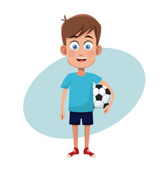 boy sport soccer image vector image