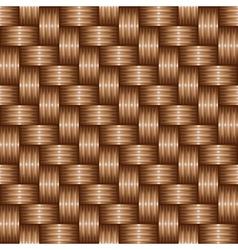 Brown weaving pattren vector
